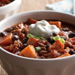 Sweet Potato Black Bean Chilli
